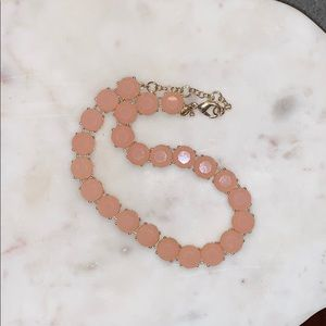 J. Crew blush tone acrylic and gold tone necklace